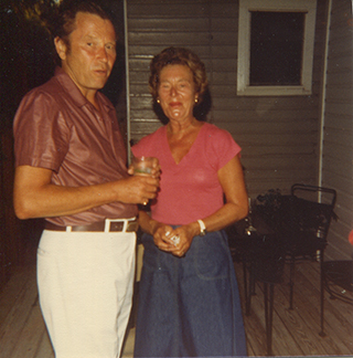 Richard and Charlee Wilbur, Key West, early 1980s