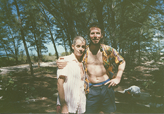 James Merrill and PH in Key West, 1986