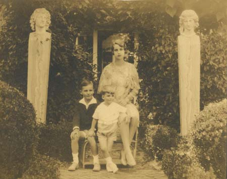 JM, Charles, and Doris, The Orchard, 1928. Source: WUSTL