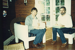 SY and JDM in Key West, late 1980s