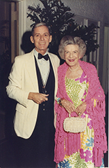 James Merrill and HIP, c. 1990 (her 90th birthday)