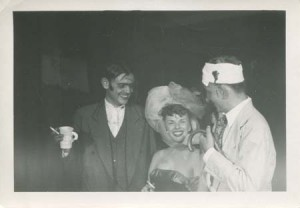 Selden James and Hans Lodeizen at the Proust Party, Amherst, 1947.