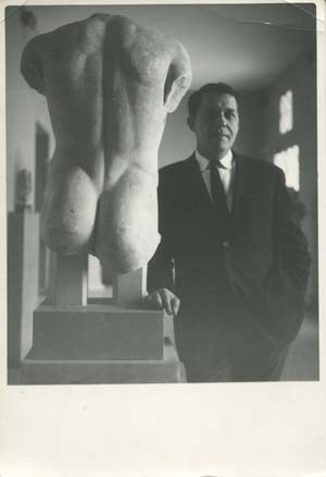 DR with archaic torso, rear facing, Athens, early 1960s.
