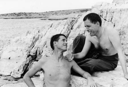 Dr and JM at the beach in Greece, early 1960's.