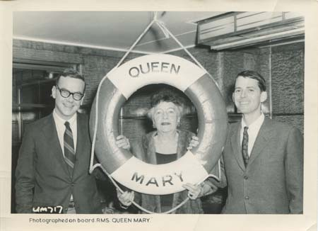JM, DJ, and Grace Zaring Stone aboard the Queen Mary, 1962.