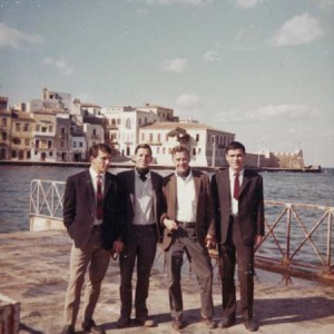 JM and Strato and Dj and GL, Chania, 1966.