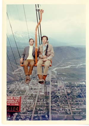 JM and DMc on Snow King Chairlift, 1968.