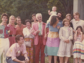 Charles and Mary Merrill with their children and their children's families on CM's 60th birthday, 1980